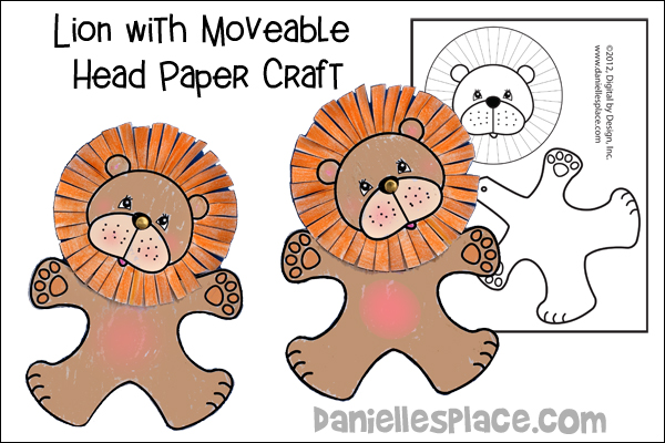 Lion with Moveable Head Craft