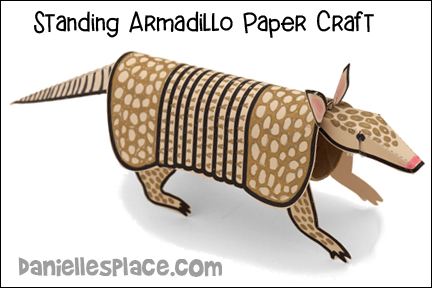 Standing Armadillo Paper Craft
