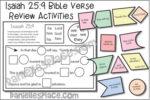 Isaiah 25:9 Bible Verse Review Activities - NIV