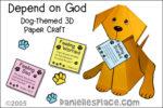 3D Depend on Dog Bible Craft