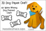 """""""No More Whining"""" 3D Dog Craft and Learning Activity"""