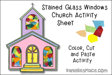 Stained Glass Window Church Activity Sheet