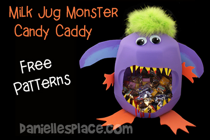 Milk Jug Monster Craft Patterns