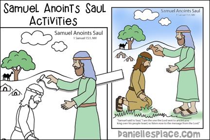 Samuel Anoints Saul Bible Activity Sheet